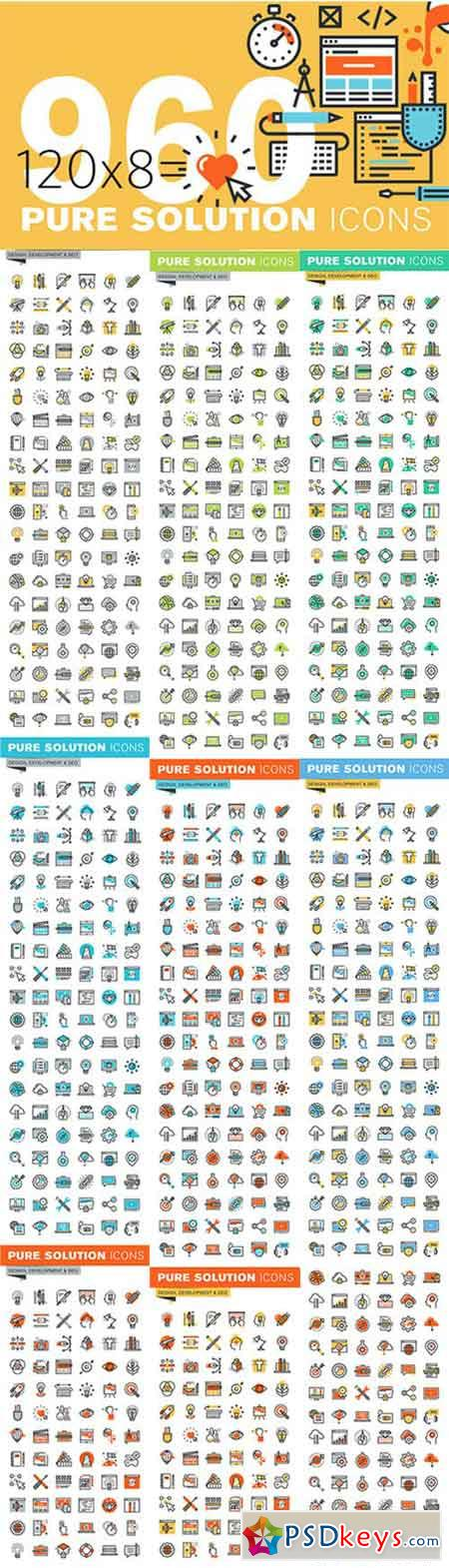 Set of Thin Line Design Icons 522308