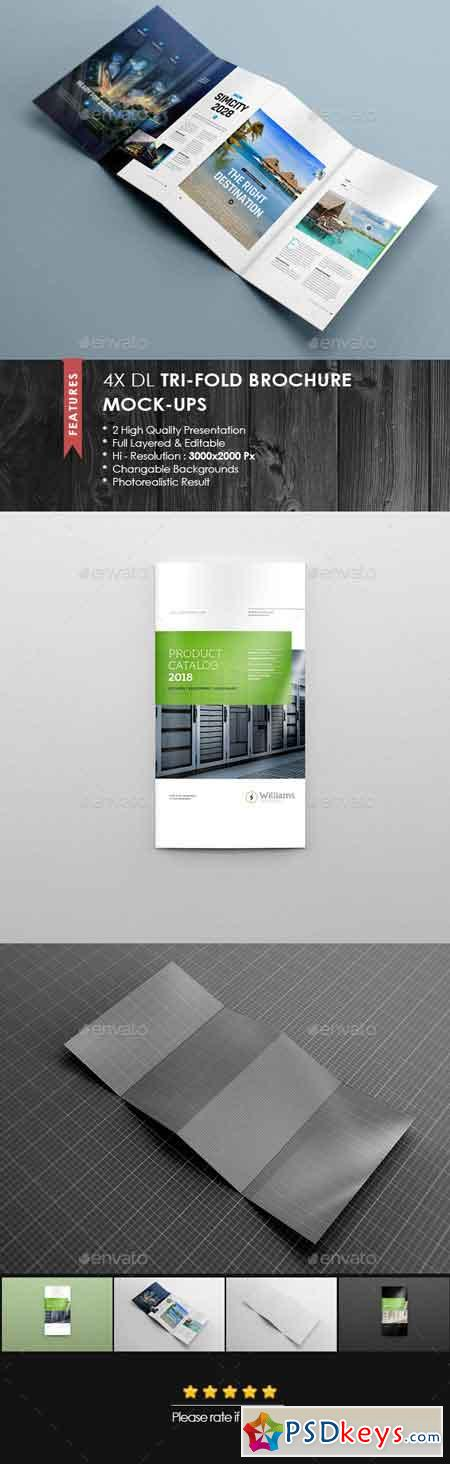 4xdl double gate fold brochure mock up 5 16574193 free for Double gate fold brochure template
