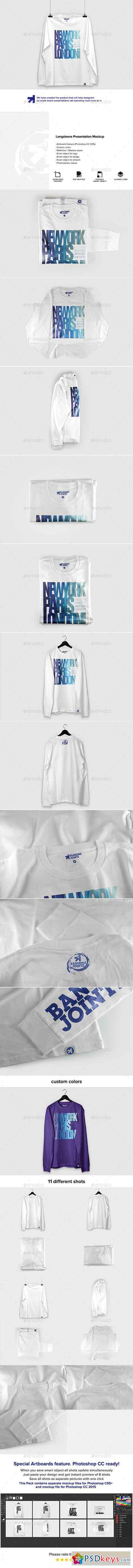 Long Sleeve Presentation Mockup 16726648