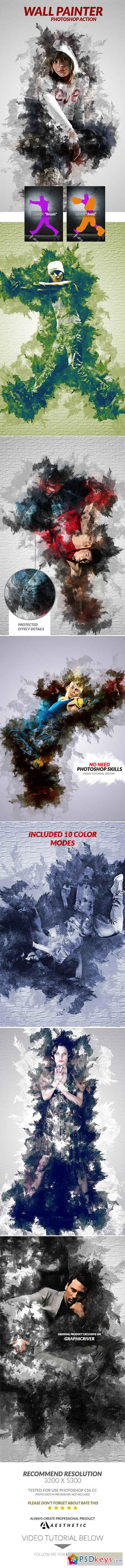 Wall Painter Photoshop Action 16410767
