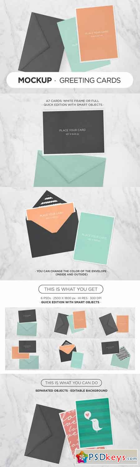 Greeting Cards MockUp 33688