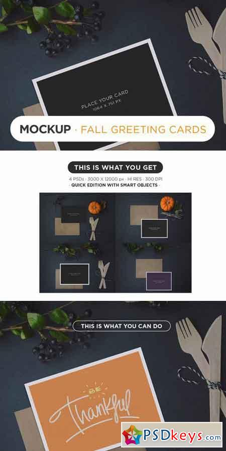 Fall Greeting Card MockUp 97465