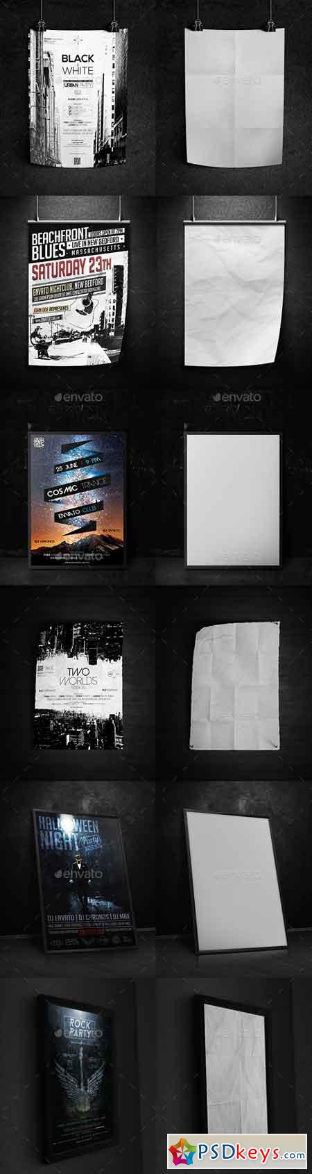 Dark Poster Mock-Up 13495004