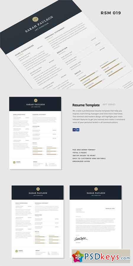 GraphicRiver Gstudio Clean Resume Template   All Design Template     All Design Template
