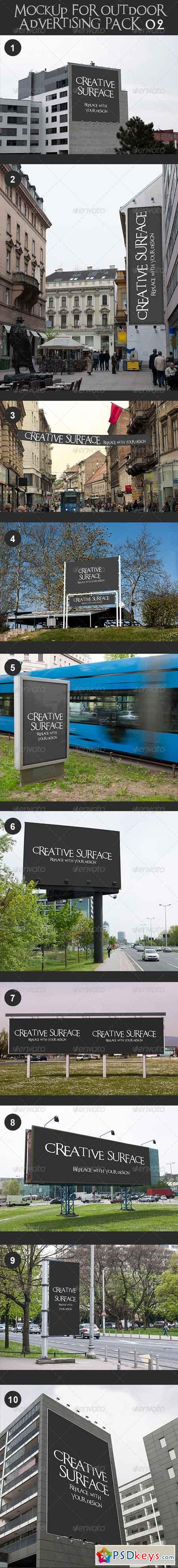 10 Mock Up's for Outdoor Advertising Pack 2 7423055