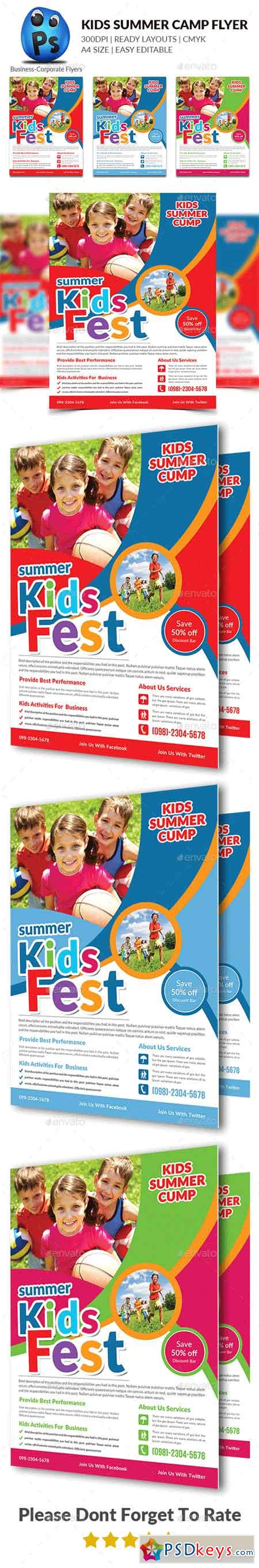 Kids Summer Camp Flyers 16048949