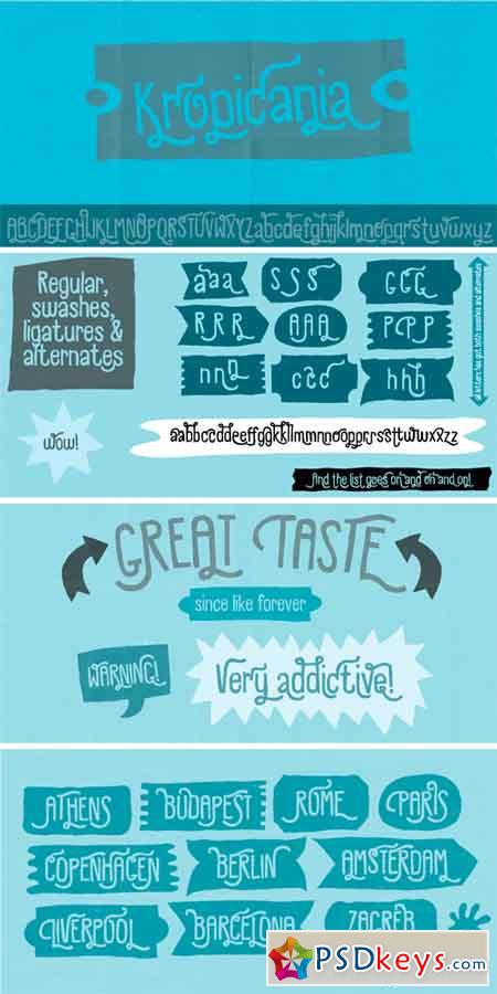 Kropicania Font Family