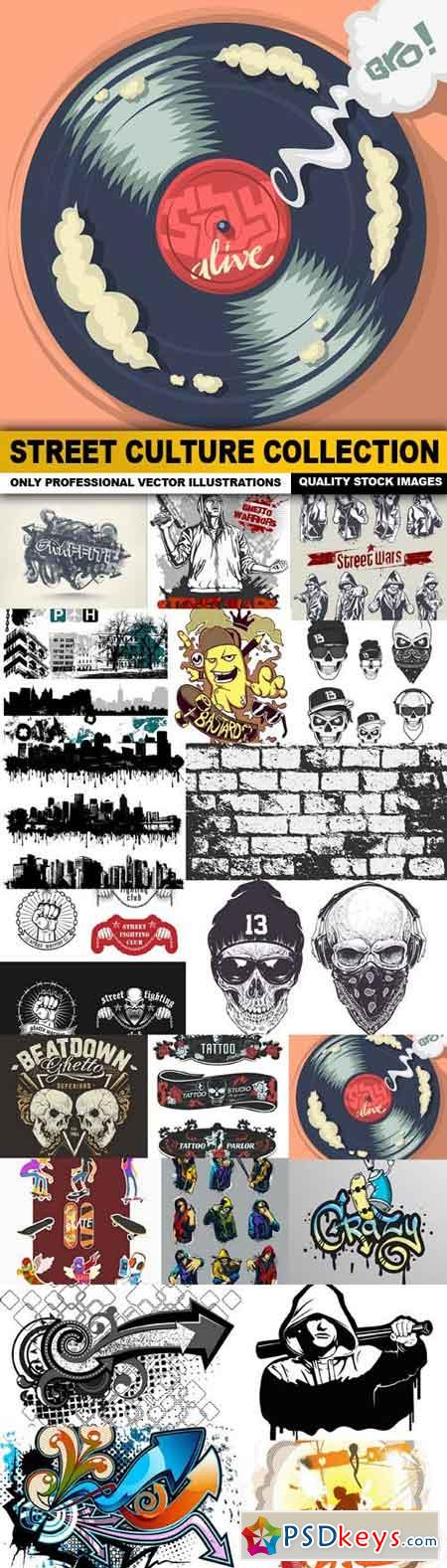 Street Culture Collection - 20 Vector