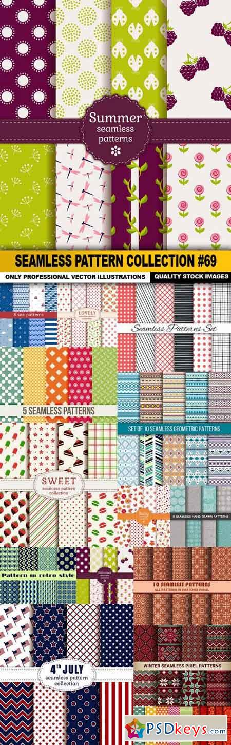 Seamless Pattern Collection #69 - 15 Vector