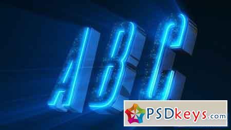 Alphabet 3D Neon LED - Abc And Social Media Icons - After Effects Projects