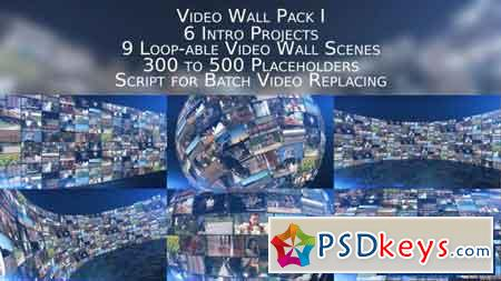 Video Wall Pack I - After Effects Projects