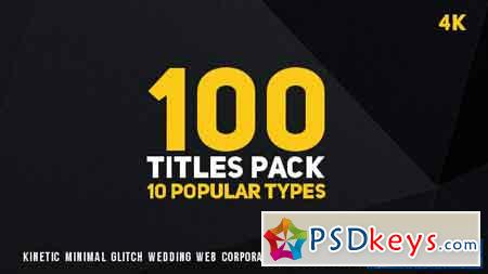100 Titles Pack (10 popular types) - After Effects Projects