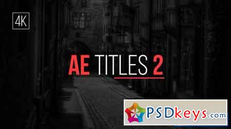 AE Titles 2 - After Effects Projects