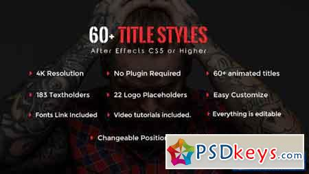 SixtyPlus - 60+ Title Styles - After Effects Projects