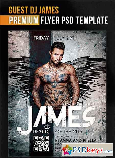 Guest Dj James – Flyer PSD Template + Facebook Cover