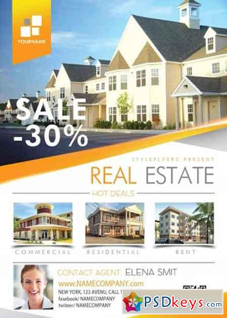 real estate brochure templates psd free download - real estate psd flyer template free download photoshop