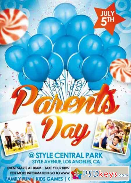 Parents day psd flyer template free download photoshop for Parent flyer templates