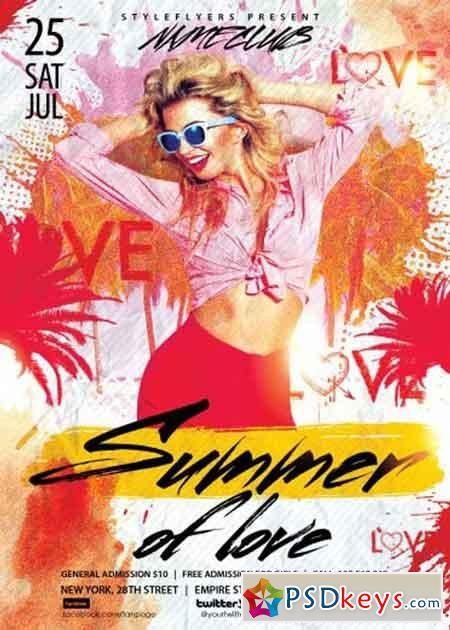 Summer Of Love PSD Flyer Template