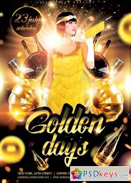 Golden Days PSD Flyer Template