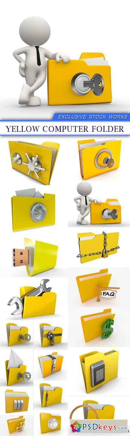 Yellow computer folder 19X JPEG
