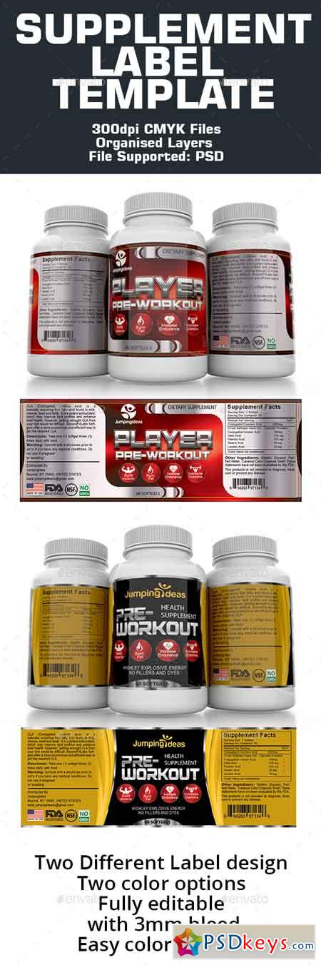 Supplement Label Template   Free Download Photoshop Vector