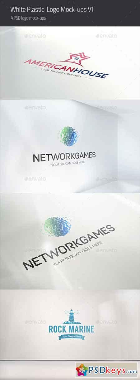White Plastic Logo Mock-ups V1 16749935