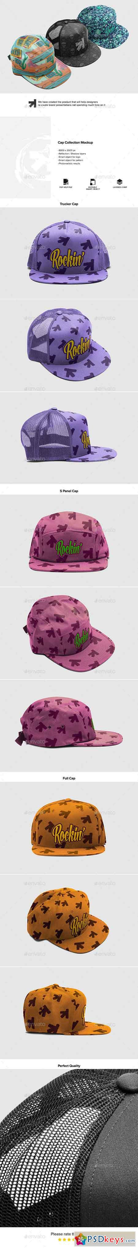 Cap Collection Mockup 16727036
