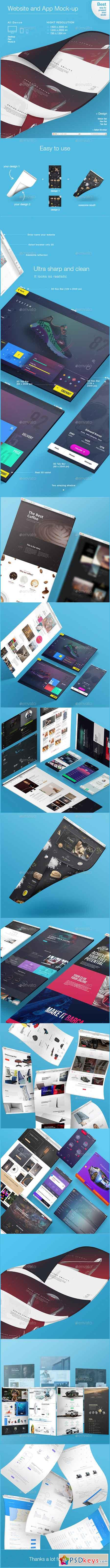 3D Website and App Mockups 16649249
