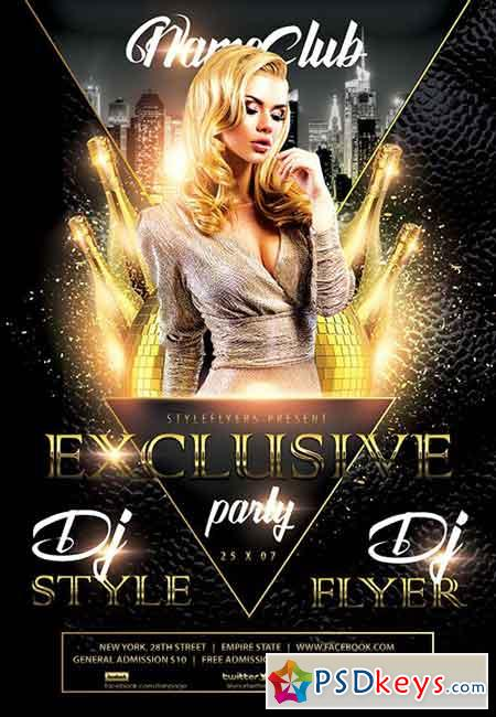 Exclusive Party Psd Flyer Template Facebook Cover Free Download