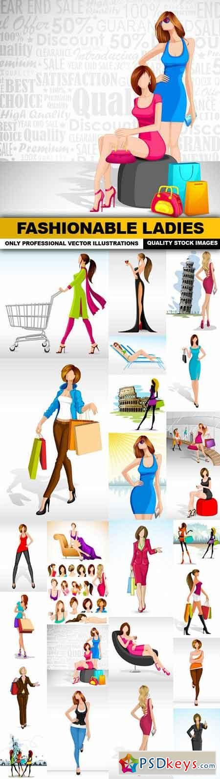 Fashionable Ladies - 25 Vector