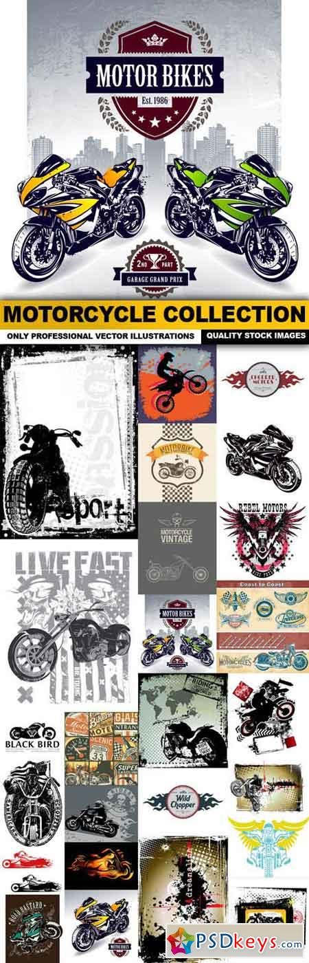 Motorcycle Collection - 25 Vector