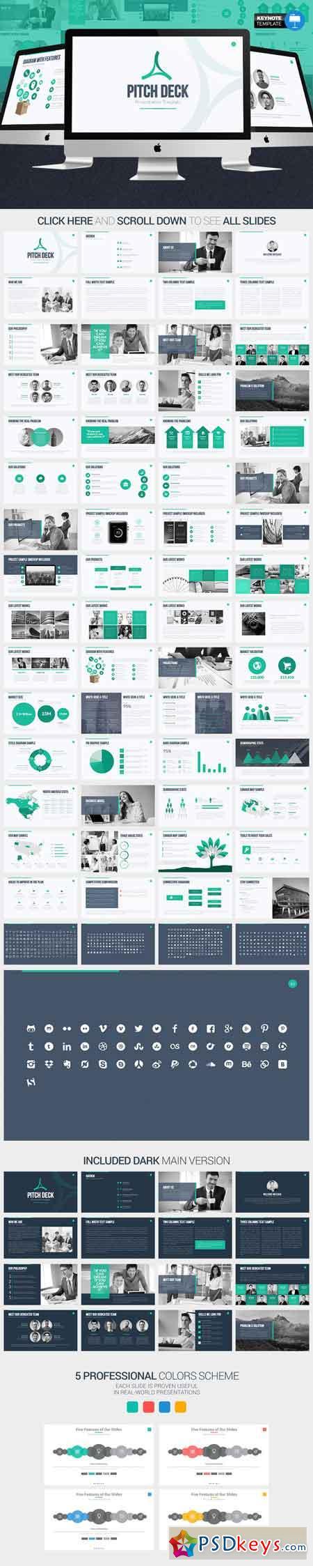 Pitch Deck Keynote Template Free Download Photoshop - Keynote deck templates