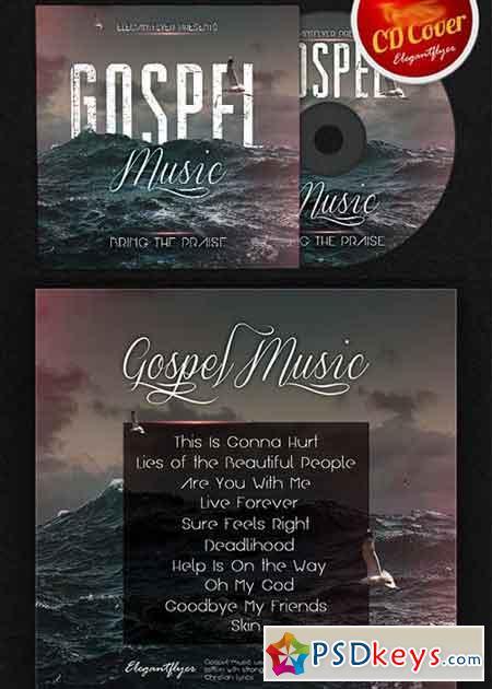 gospel music cd cover psd template  u00bb free download