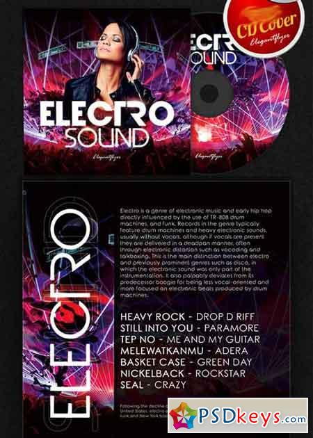 Electro Sound CD Cover PSD Template