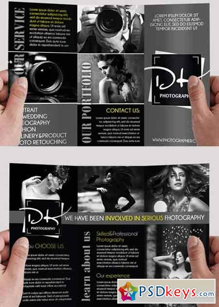 Brochures page 11 free download photoshop vector stock for Photoshop tri fold brochure template