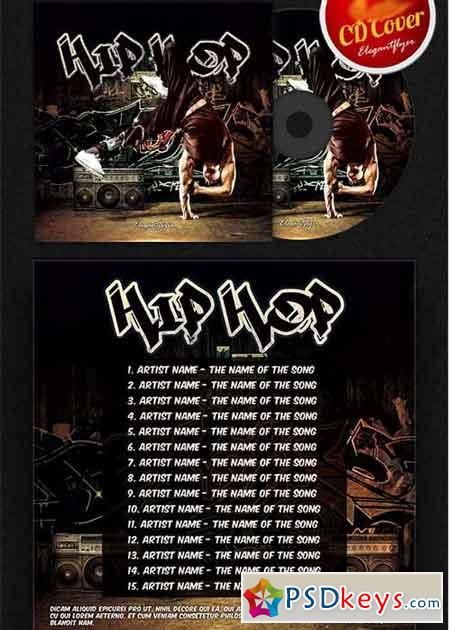 Hip hop cd cover psd template free download photoshop vector stock image via torrent for Hip hop psd