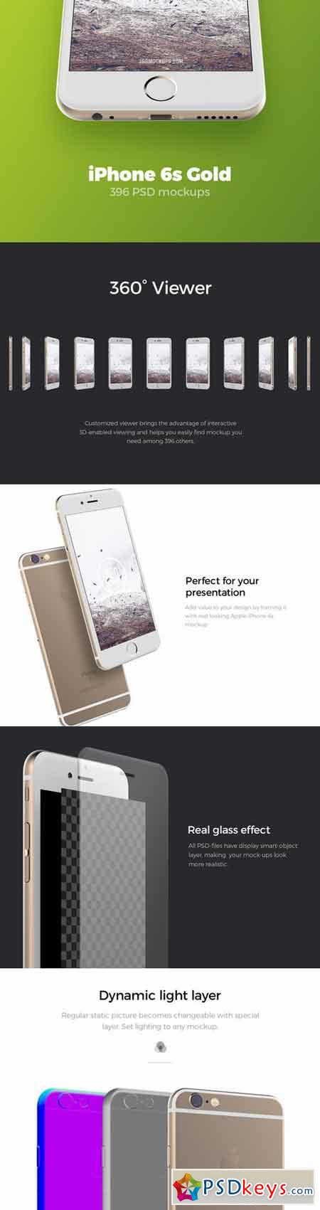 iPhone 6s Gold Mockups 649960