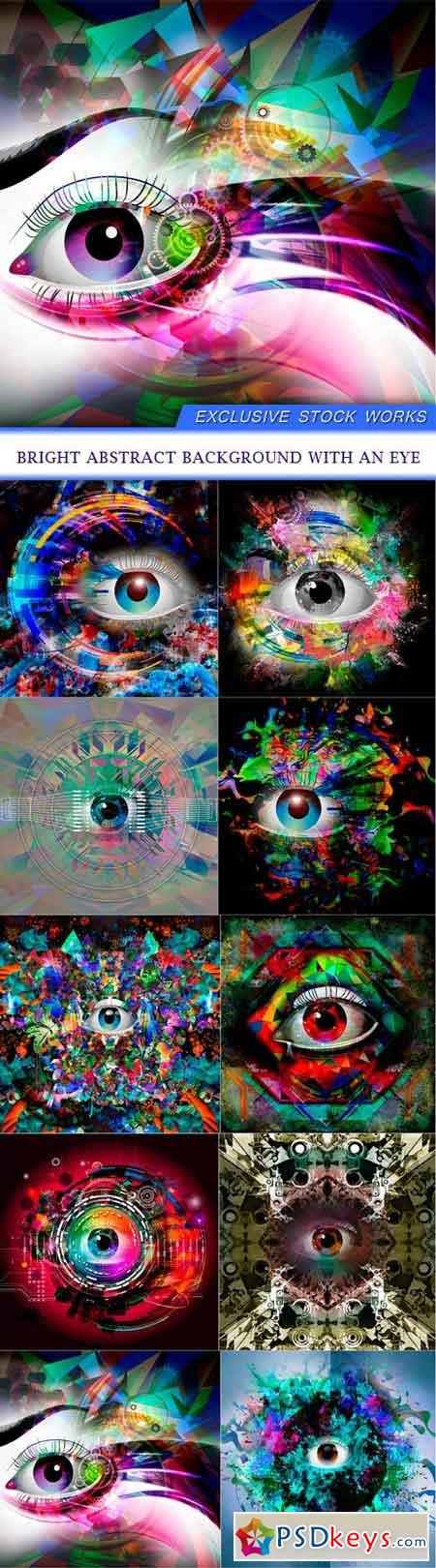Bright abstract background with an eye 10X JPEG