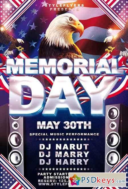 Free Memorial Day Flyer Templates  BesikEightyCo