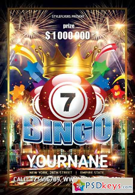 Bingo Psd Flyer Template Facebook Cover Free Download Photoshop