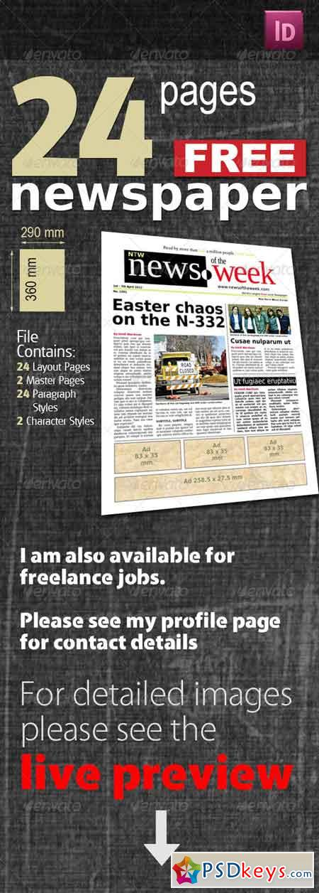 24 Pages Free Newspaper 535012