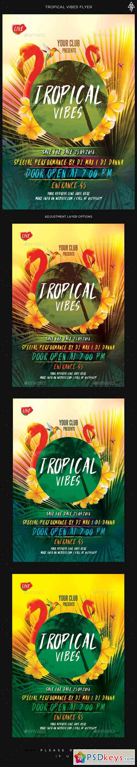 Tropical Vibes Flyer 16389121