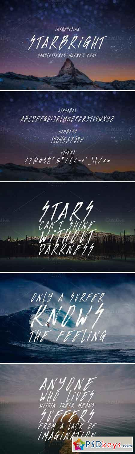 Starbright Display Font 744654