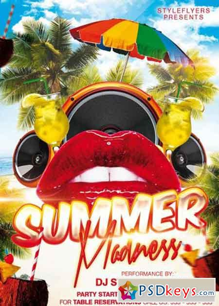 GraphicRiver Summer Madness Party Flyer Template