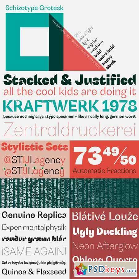 Schizotype Grotesk Font Family $80 » Free Download Photoshop