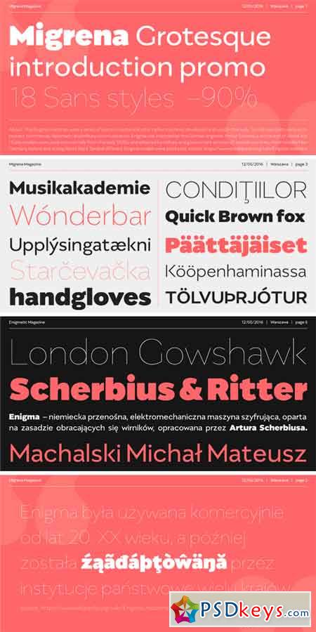 Migrena Grotesque Font Family » Free Download Photoshop