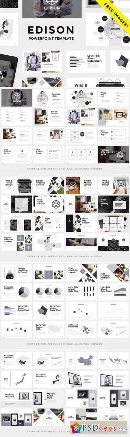 edison minimal keynote template 756621 free download photoshop vector stock image via. Black Bedroom Furniture Sets. Home Design Ideas