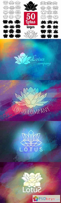 50 Lotus Flowers Logo Bundle 519088