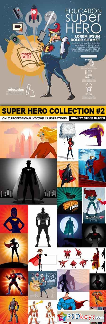 Super Hero Collection #2 - 25 Vector