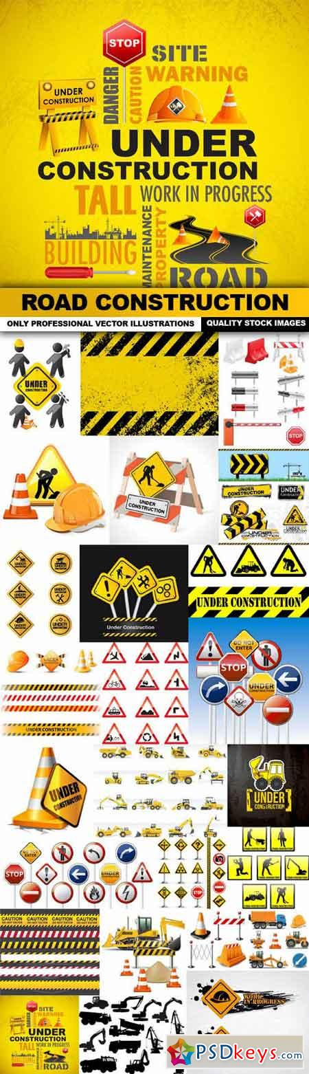 Road Construction 2 - 25 Vector